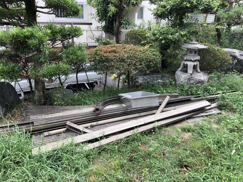 名古屋市中川区|カーポート撤去工事|廃棄物