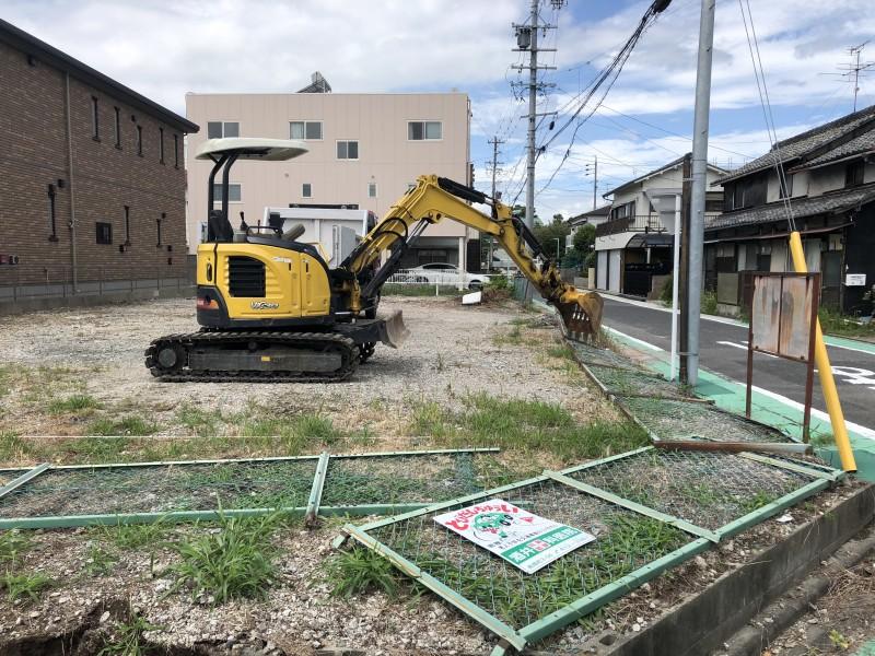 名古屋市中村区|フェンス撤去工事を開始
