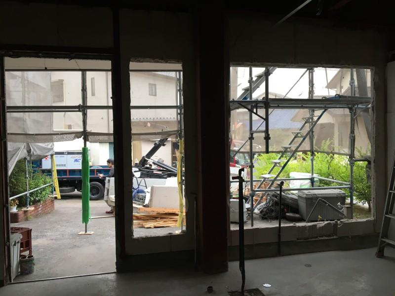 外壁ALCはつり工事 完工