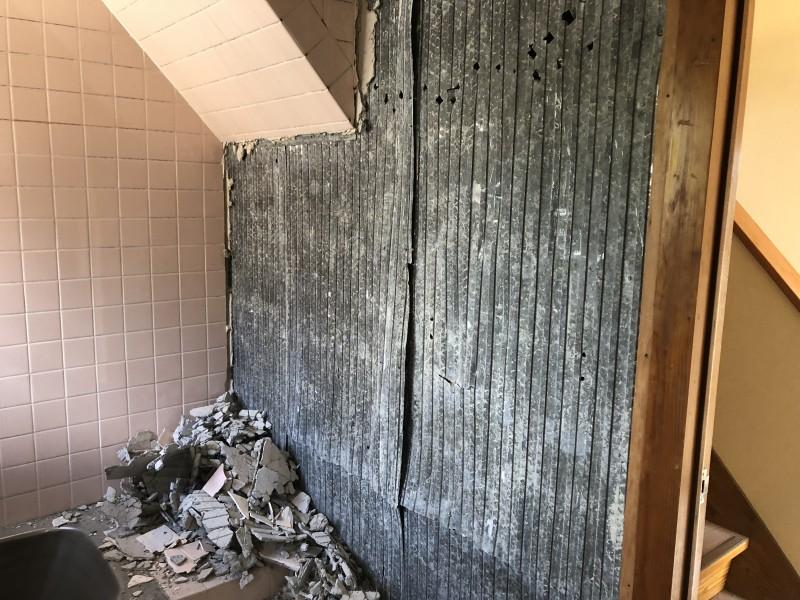 お風呂の解体|ラス壁撤去|愛知県犬山市