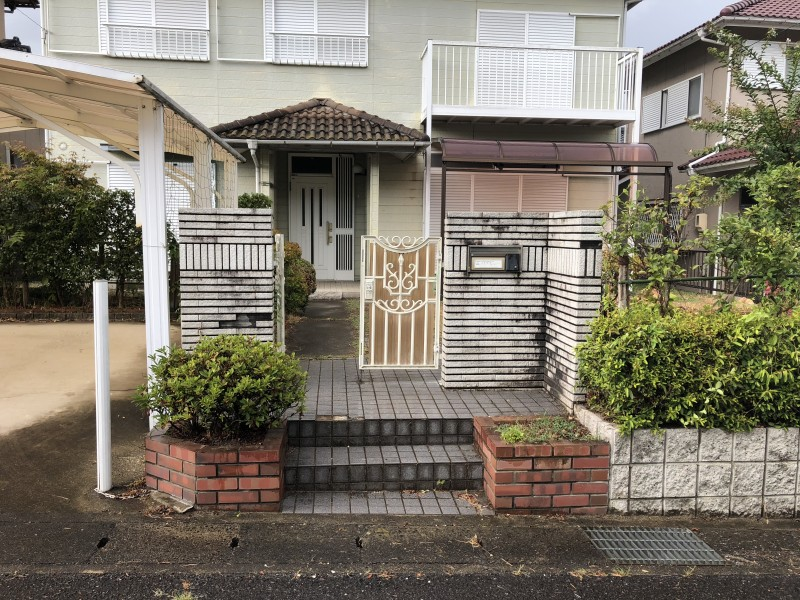 岐阜県可児市|ブロック塀、土間コンクリート解体