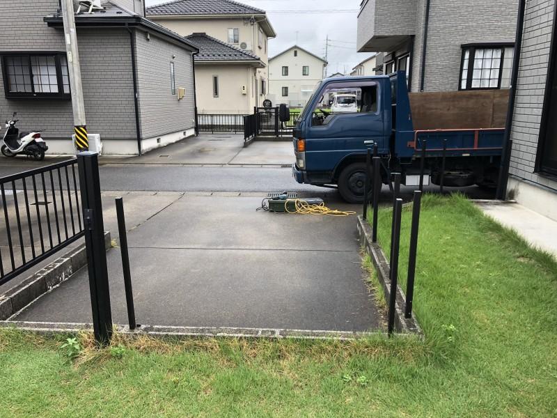 岐阜市|柵フェンスの撤去