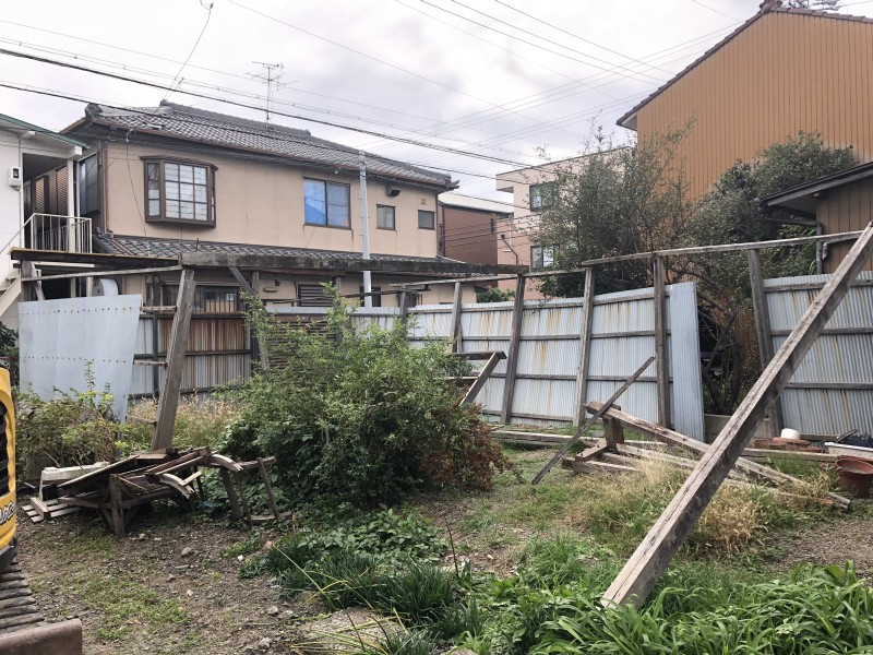 名古屋市中村区フェンス撤去|施工前