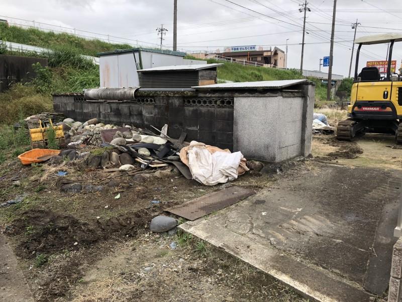 江南市ブロック塀撤去|施工前