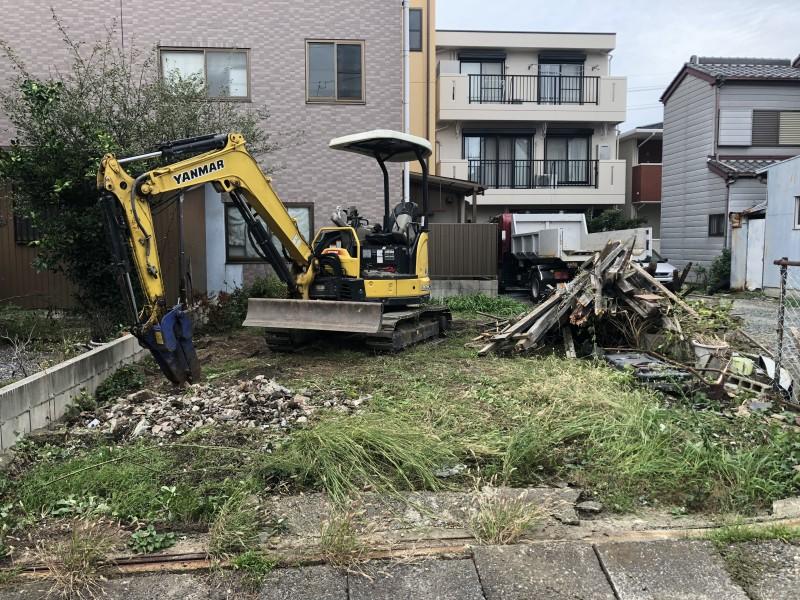 名古屋市中村区フェンス撤去|解体中