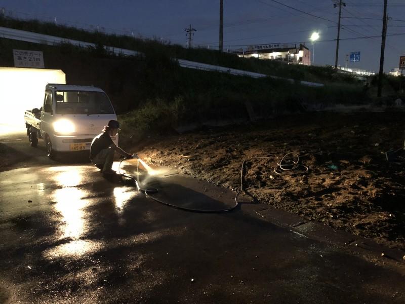 江南市ブロック塀解体|清掃