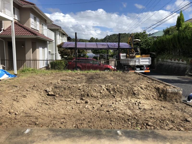 岐阜県可児市|庭の解体|駐車場の拡張が完工