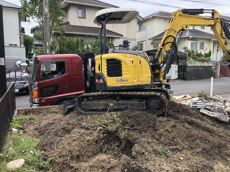 岐阜県可児市|庭木の伐採が完工