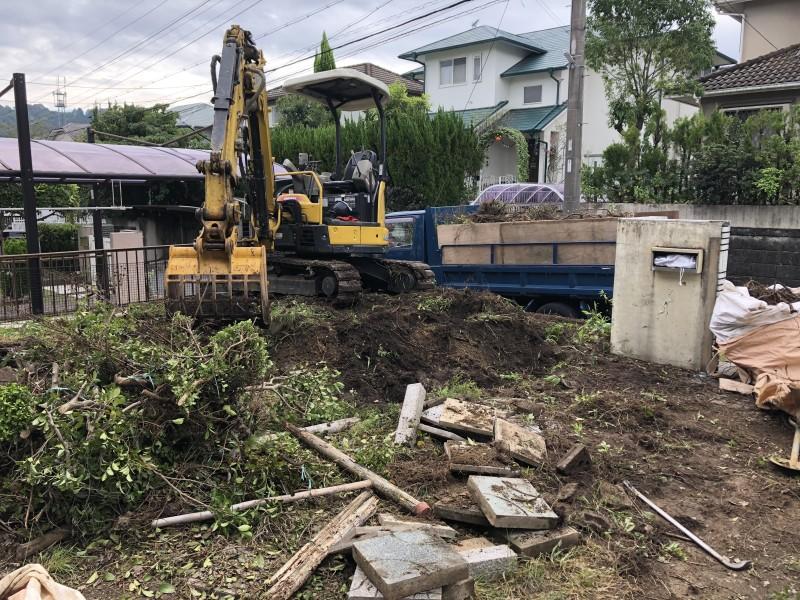 岐阜県可児市 庭木の撤去
