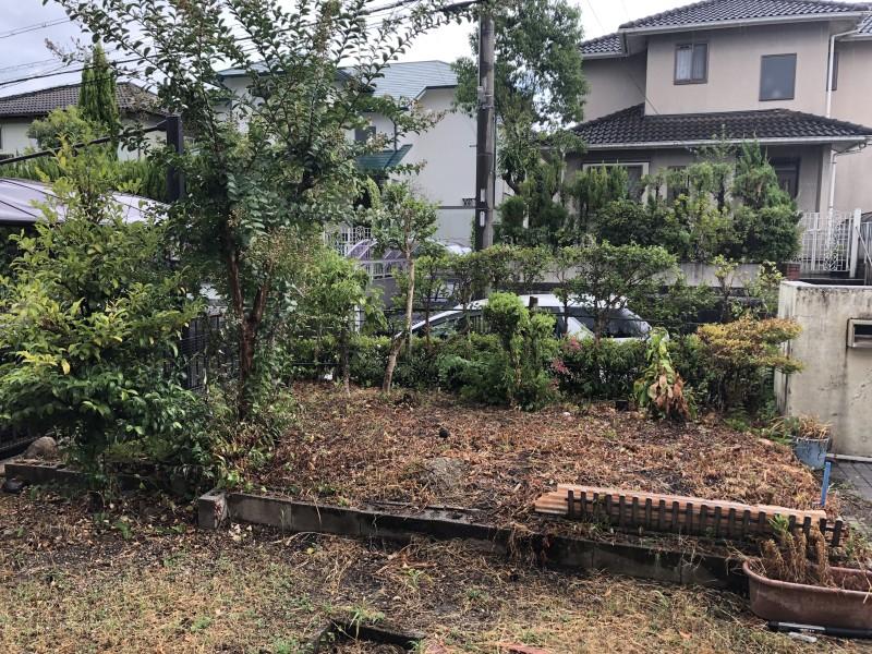 岐阜県可児市|庭の解体|駐車場の拡張