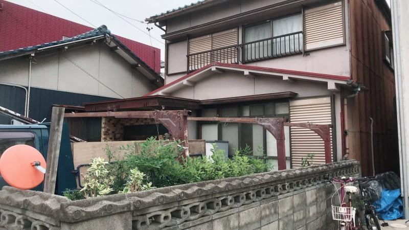 名古屋市守山区カーポート撤去|解体中