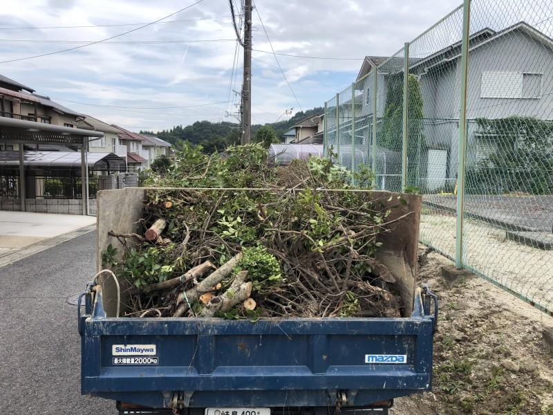 岐阜県可児市|庭木の搬出