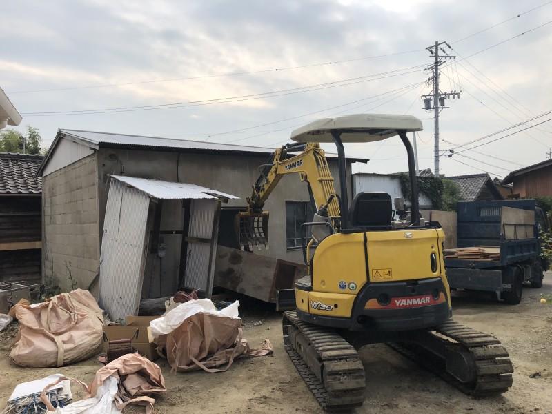 刈谷市|倉庫の解体工事|施工前