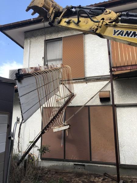 ベランダ解体工事|岐阜市|重機解体