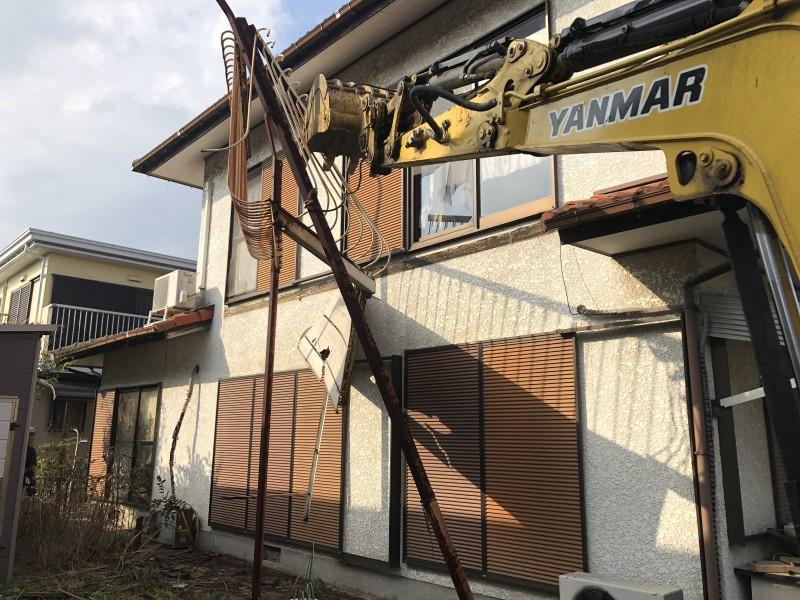 ベランダ解体工事 岐阜市 倒壊寸前で危険