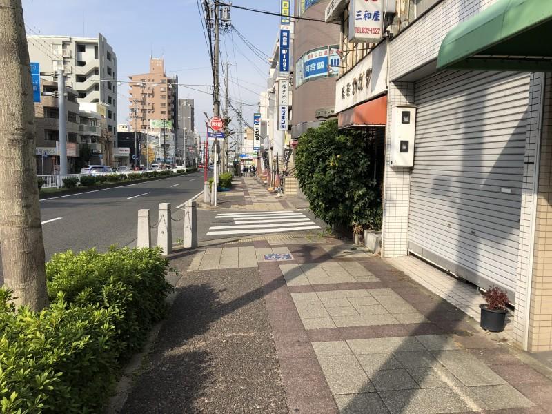 看板撤去 名古屋市昭和区 歩道帯