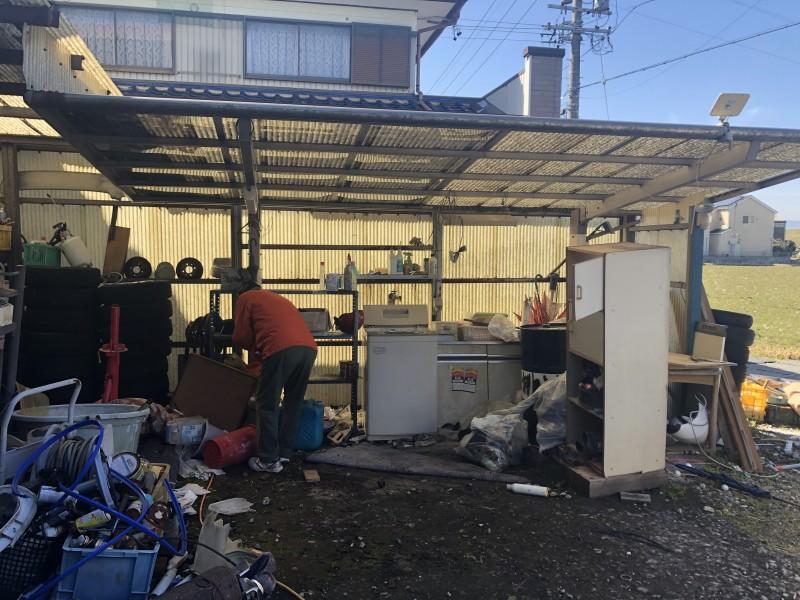 岐阜市|カーポートの解体