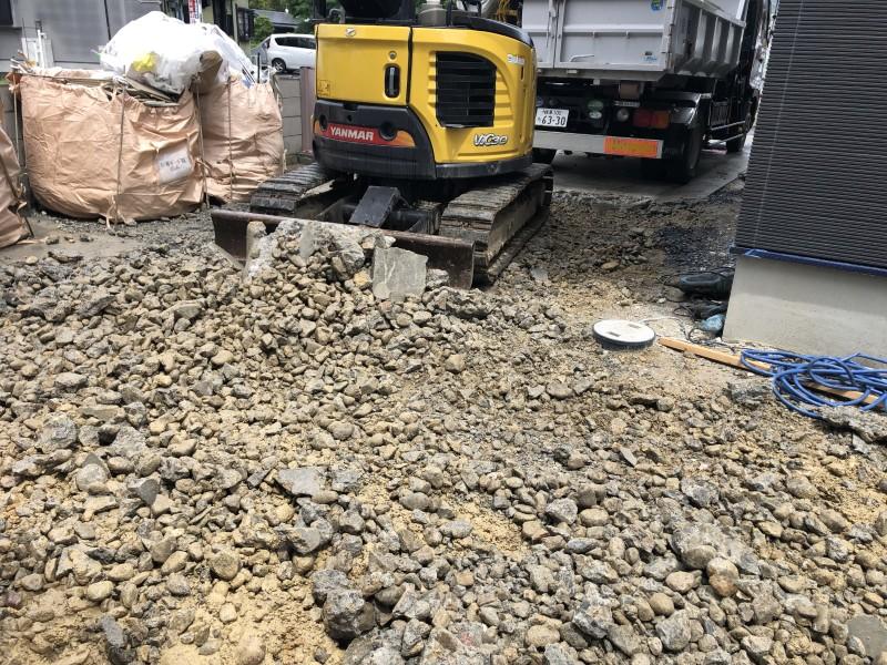 キレイに撤去できてます|土岐市の駐車場コンクリートはつり工事