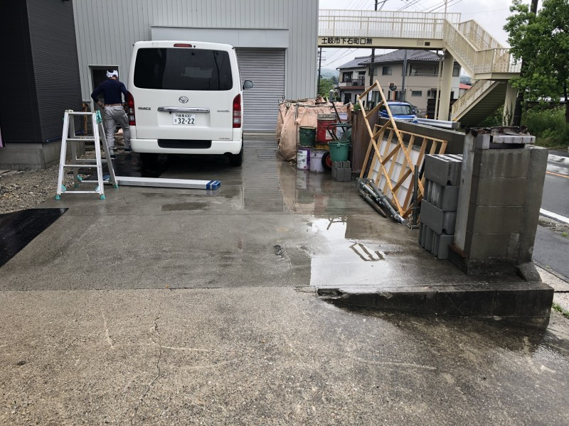 着工前|土岐市の駐車場コンクリートはつり工事