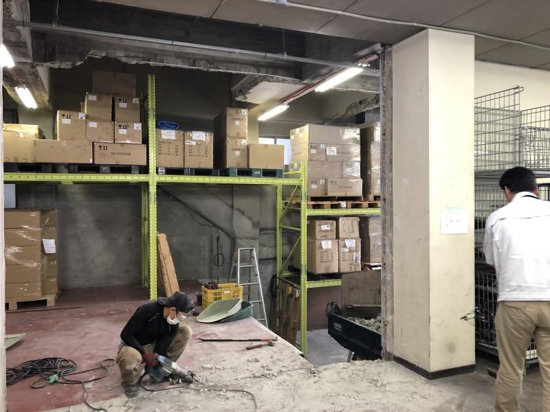 ブロック壁の設置跡の溝もキレイに撤去|名古屋市中村区のブロック壁の解体