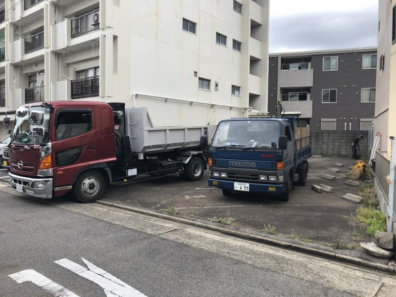 いよいよ着工です 名古屋市東区のアスファルト舗装撤去