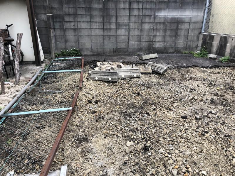 名古屋市東区のフェンス撤去
