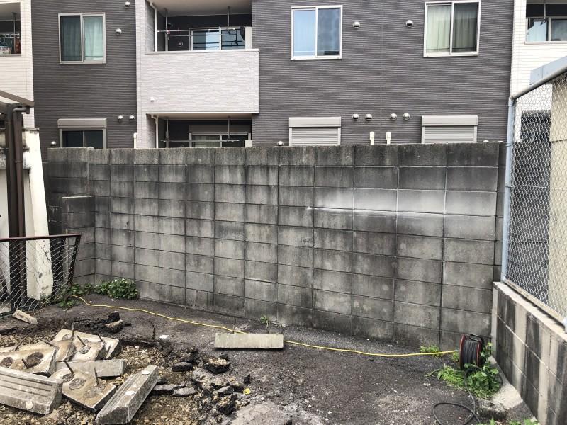 名古屋市東区|ブロック塀の撤去