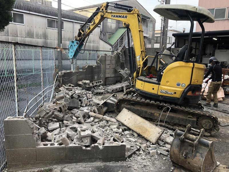 愛知県犬山市|土間コンクリートはつり工事が完工