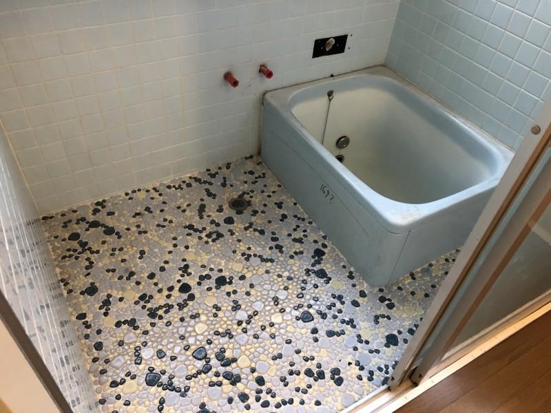 名古屋市中川区の風呂解体が着工