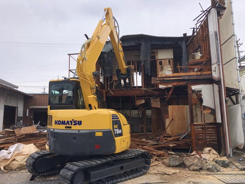 名古屋市守山区の木造2階建て解体工事