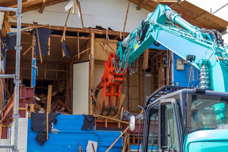 解体工事の現場写真