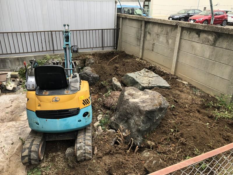 名古屋市中川区お庭の解体工事/リフォーム工事