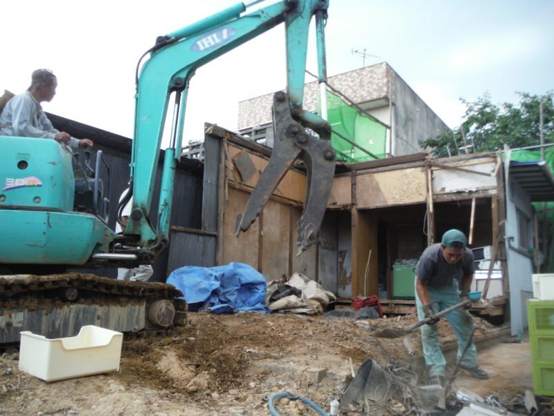 名古屋市瑞穂区の木造平屋建て住宅の解体工事
