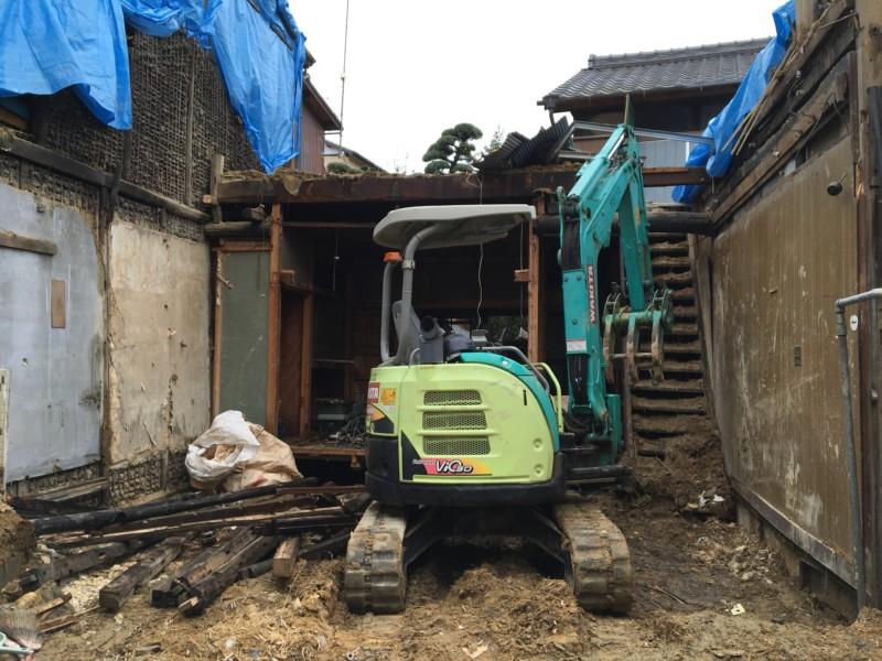 【家を手壊し】名古屋市中村区の木造2階建て解体工事【28坪110万円】