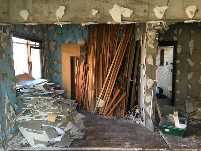 愛知県小牧市マンションの内装解体・スケルトン工事