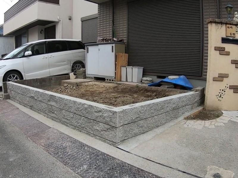 名古屋市中川区のブロックとフェンス工事