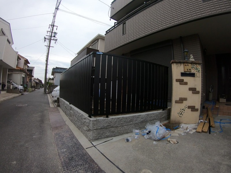 名古屋市中川区のブロックとフェンス工事|フェンス設置