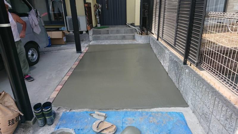 名古屋市の駐車場を広げる工事