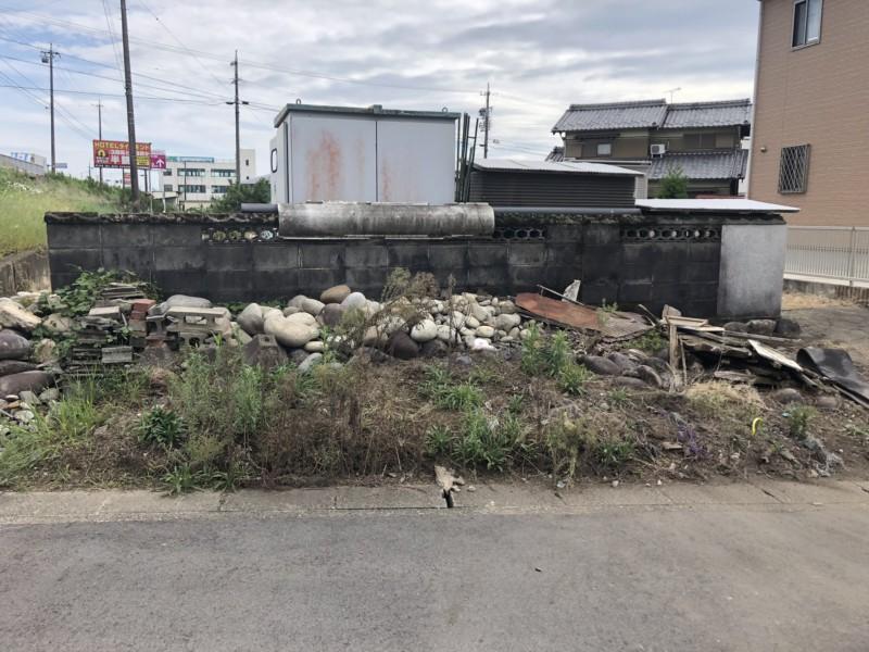 愛知県江南市のブロック塀の解体工事