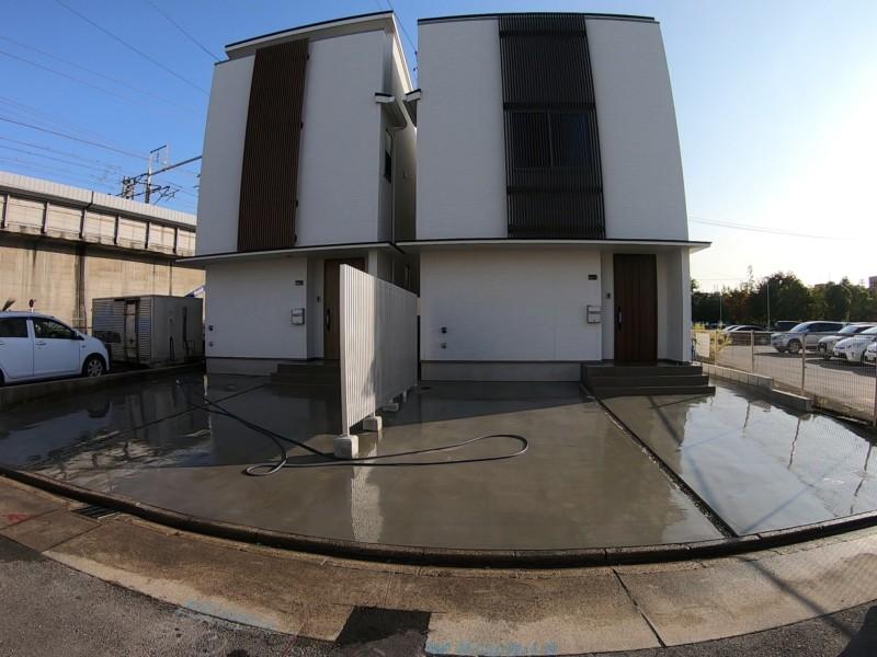 愛知県春日井市の駐車場コンクリート