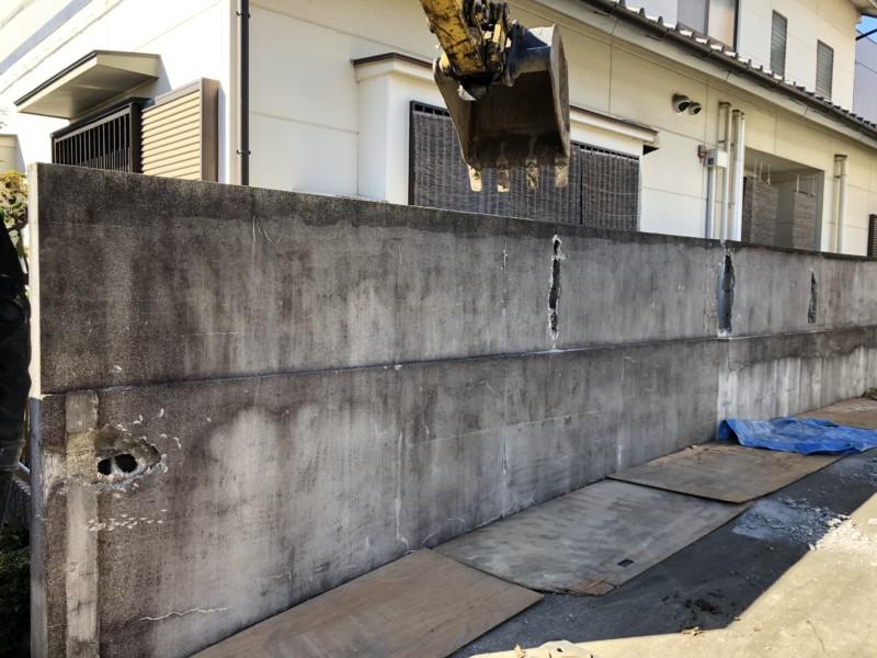 愛知県犬山市のブロック塀の解体撤去