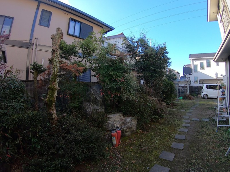 愛知県安城市の庭の解体工事
