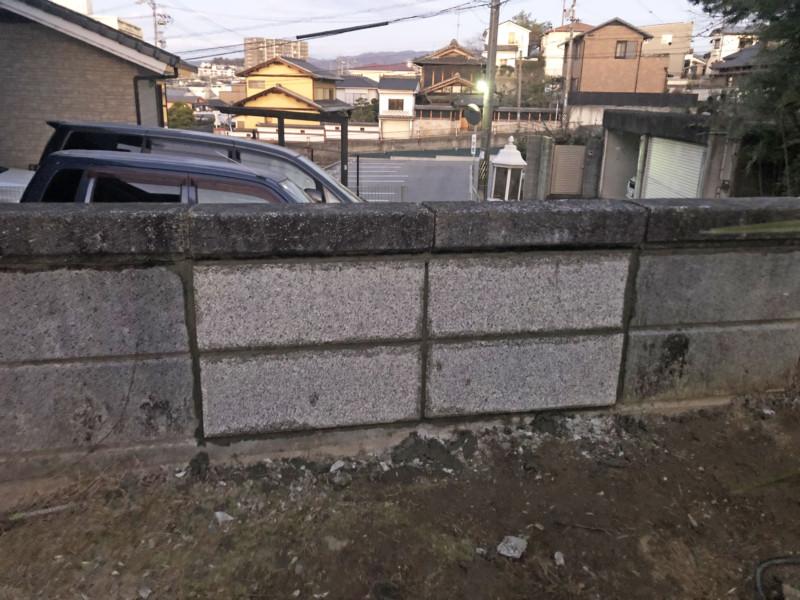 愛知県稲沢市ブロック補修工事