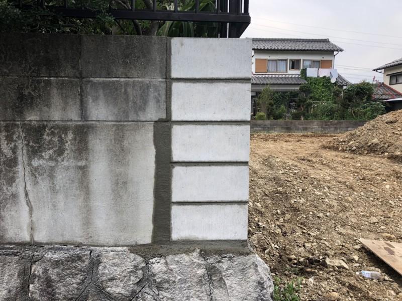 愛知県日進市ブロック補修工事
