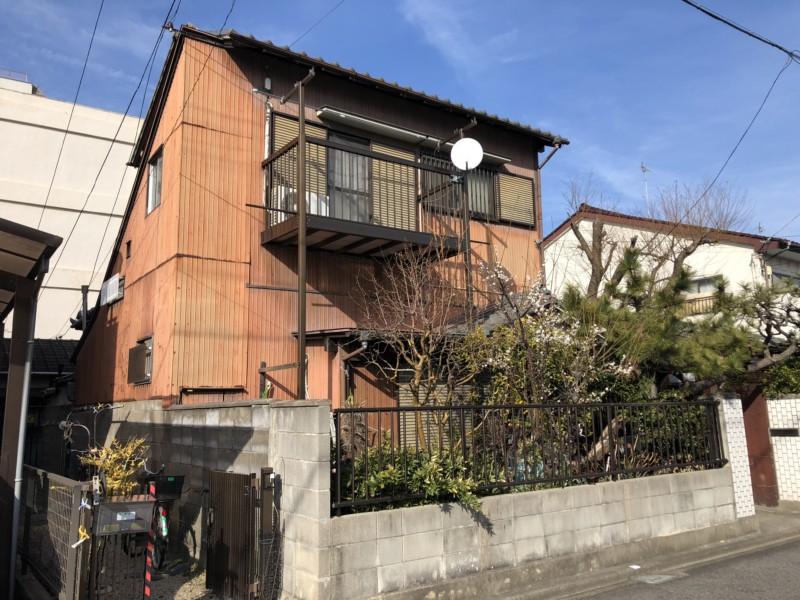 名古屋市北区の木造2階建て家の解体工事