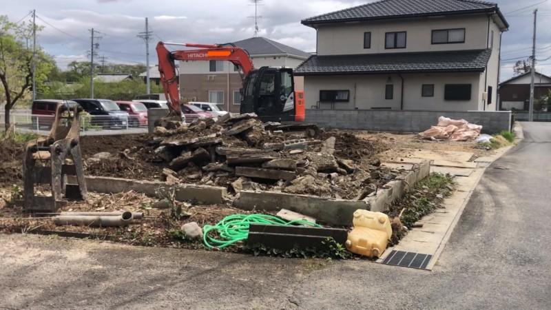 愛知県稲沢市の木造平屋建て家の解体工事【43坪120万円】